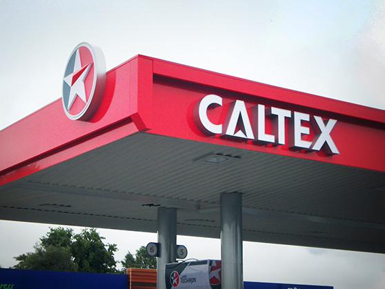 CALTEX RETAIL SITE BRANDING graphic