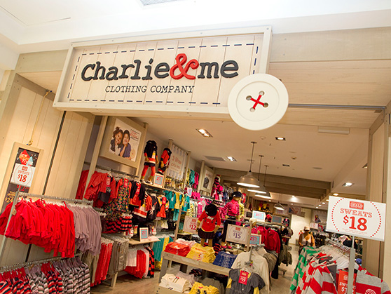 CHARLIE & ME RETAIL BRAND APPLICATION graphic