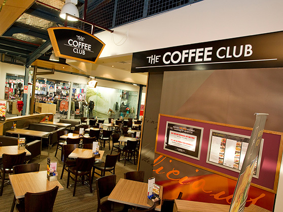 THE COFFEE CLUB RETAIL BRAND APPLICATION graphic